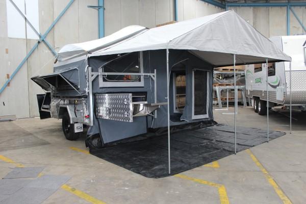 galvanized deluxe camper trailer annex