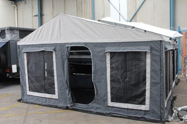 galvanized deluxe camper trailer tent