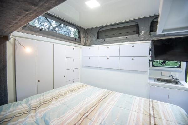 xh15 hybrid caravan interior cupboards