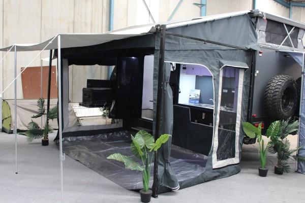 xh15 hybrid caravan awning erected
