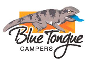 blue tongue campers colour logo